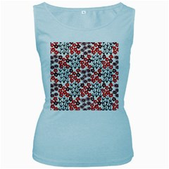 Simple Japanese Patterns Women s Baby Blue Tank Top