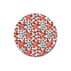 Simple Japanese Patterns Magnet 3  (round)