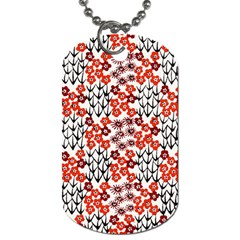 Simple Japanese Patterns Dog Tag (one Side)