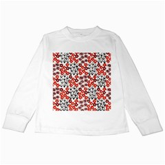 Simple Japanese Patterns Kids Long Sleeve T Shirts
