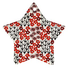 Simple Japanese Patterns Star Ornament (two Sides)