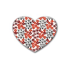 Simple Japanese Patterns Heart Coaster (4 pack)