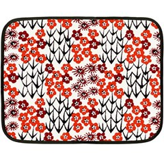 Simple Japanese Patterns Double Sided Fleece Blanket (mini)
