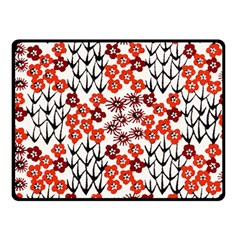 Simple Japanese Patterns Fleece Blanket (Small)