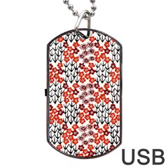 Simple Japanese Patterns Dog Tag USB Flash (Two Sides)