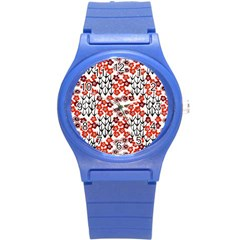 Simple Japanese Patterns Round Plastic Sport Watch (s)