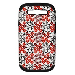 Simple Japanese Patterns Samsung Galaxy S III Hardshell Case (PC+Silicone)