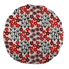Simple Japanese Patterns Large 18  Premium Round Cushions