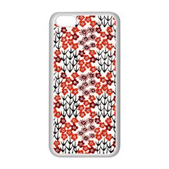 Simple Japanese Patterns Apple iPhone 5C Seamless Case (White)