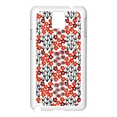 Simple Japanese Patterns Samsung Galaxy Note 3 N9005 Case (White)