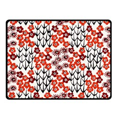Simple Japanese Patterns Double Sided Fleece Blanket (small)