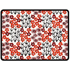 Simple Japanese Patterns Double Sided Fleece Blanket (large)