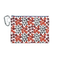 Simple Japanese Patterns Canvas Cosmetic Bag (M)