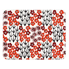 Simple Japanese Patterns Double Sided Flano Blanket (large)