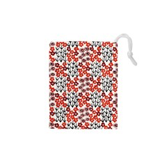 Simple Japanese Patterns Drawstring Pouches (XS)