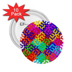 3d Fsm Tessellation Pattern 2.25  Buttons (10 pack)