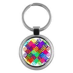 3d Fsm Tessellation Pattern Key Chains (Round)