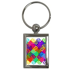 3d Fsm Tessellation Pattern Key Chains (rectangle)