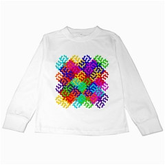 3d Fsm Tessellation Pattern Kids Long Sleeve T Shirts