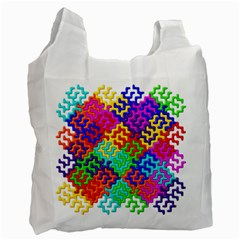3d Fsm Tessellation Pattern Recycle Bag (two Side)