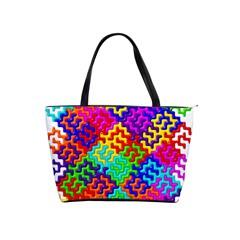 3d Fsm Tessellation Pattern Shoulder Handbags