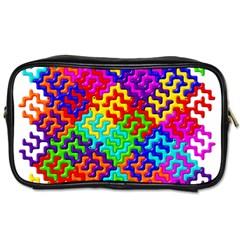 3d Fsm Tessellation Pattern Toiletries Bags 2-Side