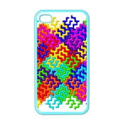 3d Fsm Tessellation Pattern Apple iPhone 4 Case (Color)