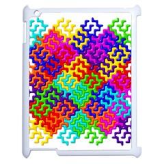 3d Fsm Tessellation Pattern Apple Ipad 2 Case (white)