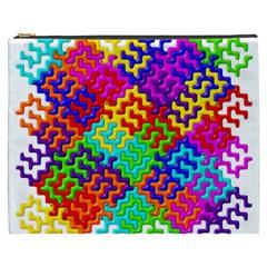 3d Fsm Tessellation Pattern Cosmetic Bag (XXXL)