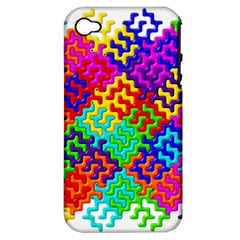 3d Fsm Tessellation Pattern Apple iPhone 4/4S Hardshell Case (PC+Silicone)