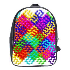 3d Fsm Tessellation Pattern School Bags (XL)