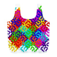 3d Fsm Tessellation Pattern Full Print Recycle Bags (l)