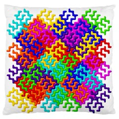3d Fsm Tessellation Pattern Large Flano Cushion Case (One Side)