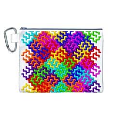 3d Fsm Tessellation Pattern Canvas Cosmetic Bag (L)