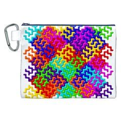 3d Fsm Tessellation Pattern Canvas Cosmetic Bag (xxl)