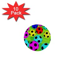 Balls Colors 1  Mini Buttons (10 Pack)