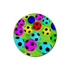 Balls Colors Rubber Round Coaster (4 Pack)