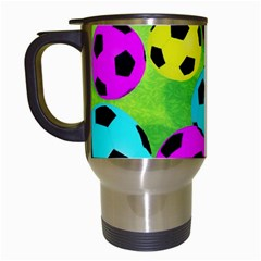 Balls Colors Travel Mugs (white)