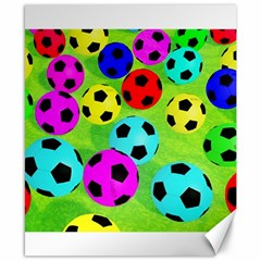 Balls Colors Canvas 8  X 10
