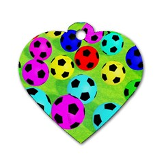 Balls Colors Dog Tag Heart (Two Sides)