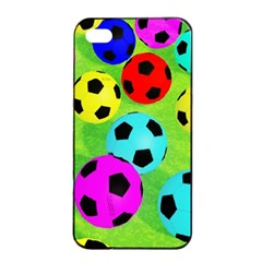 Balls Colors Apple iPhone 4/4s Seamless Case (Black)