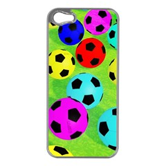 Balls Colors Apple iPhone 5 Case (Silver)