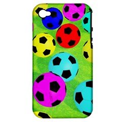 Balls Colors Apple iPhone 4/4S Hardshell Case (PC+Silicone)