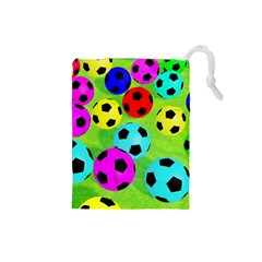 Balls Colors Drawstring Pouches (small)
