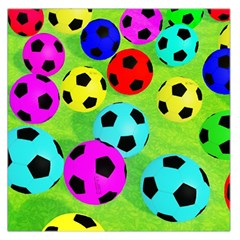 Balls Colors Large Satin Scarf (Square)