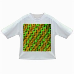 Green Red Brown Zig Zag Background Infant/Toddler T-Shirts