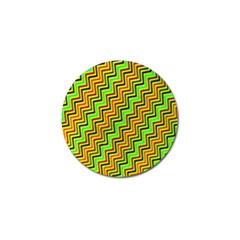 Green Red Brown Zig Zag Background Golf Ball Marker (4 pack)