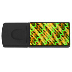 Green Red Brown Zig Zag Background USB Flash Drive Rectangular (1 GB)