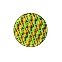 Green Red Brown Zig Zag Background Hat Clip Ball Marker (10 Pack)