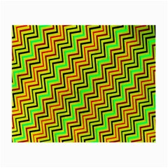 Green Red Brown Zig Zag Background Small Glasses Cloth